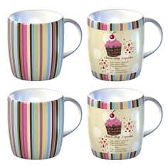 Cupcakes Collection Set of 4 Barrel Mugs