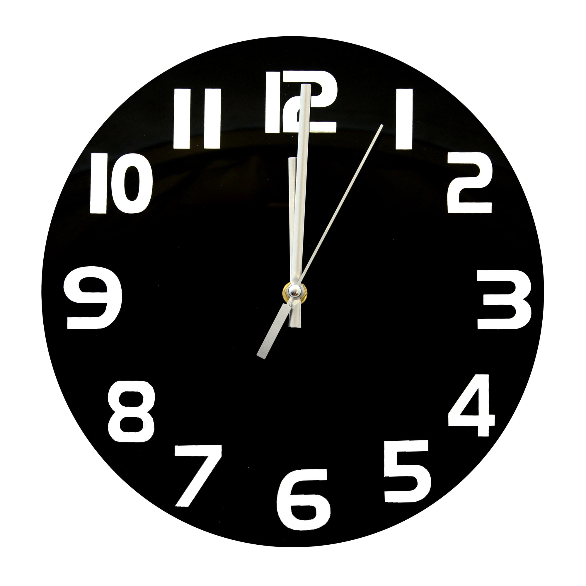 Black Adlington Glass Wall Clock