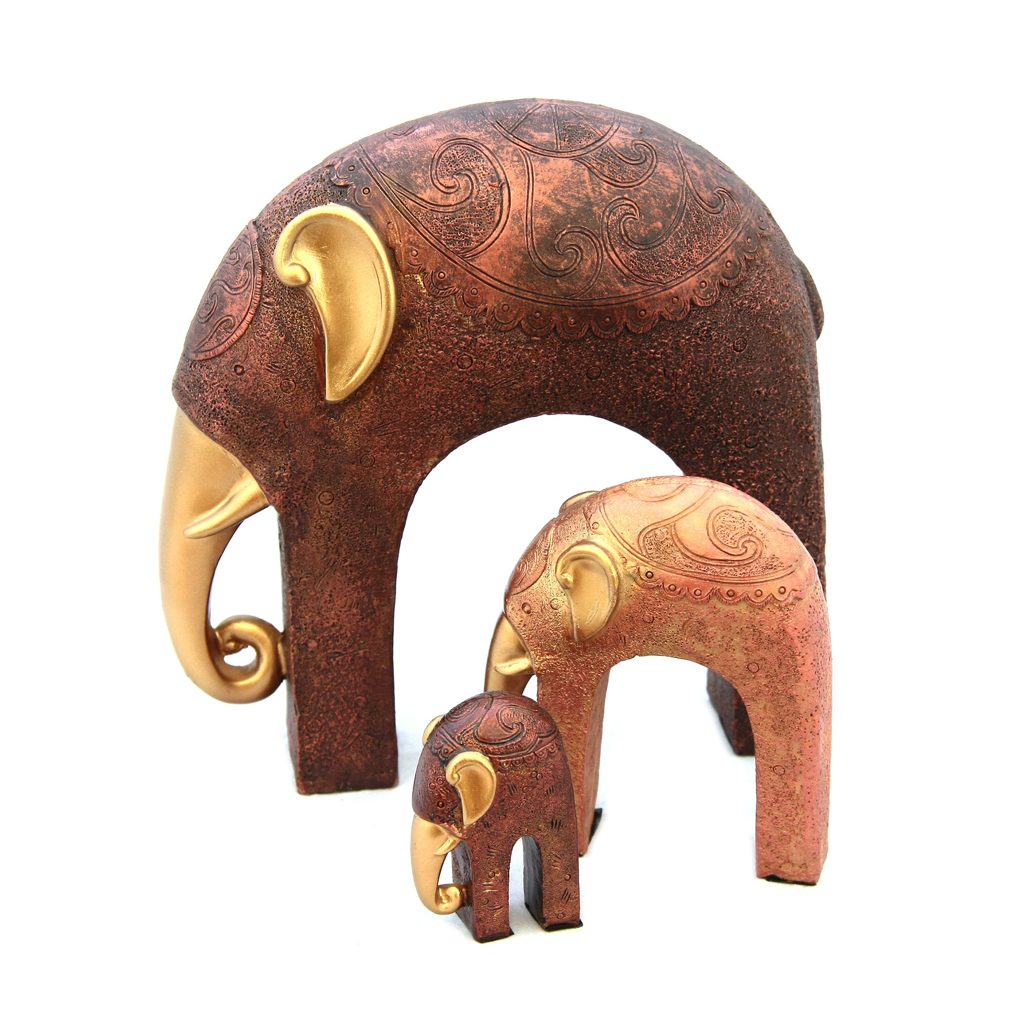 Creme Caramel Set of 3 Elephant Ornaments