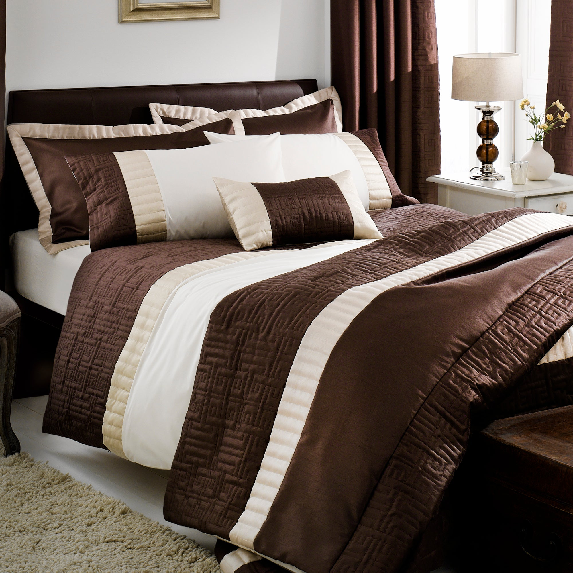 Chocolate Athens Collection Duvet Cover