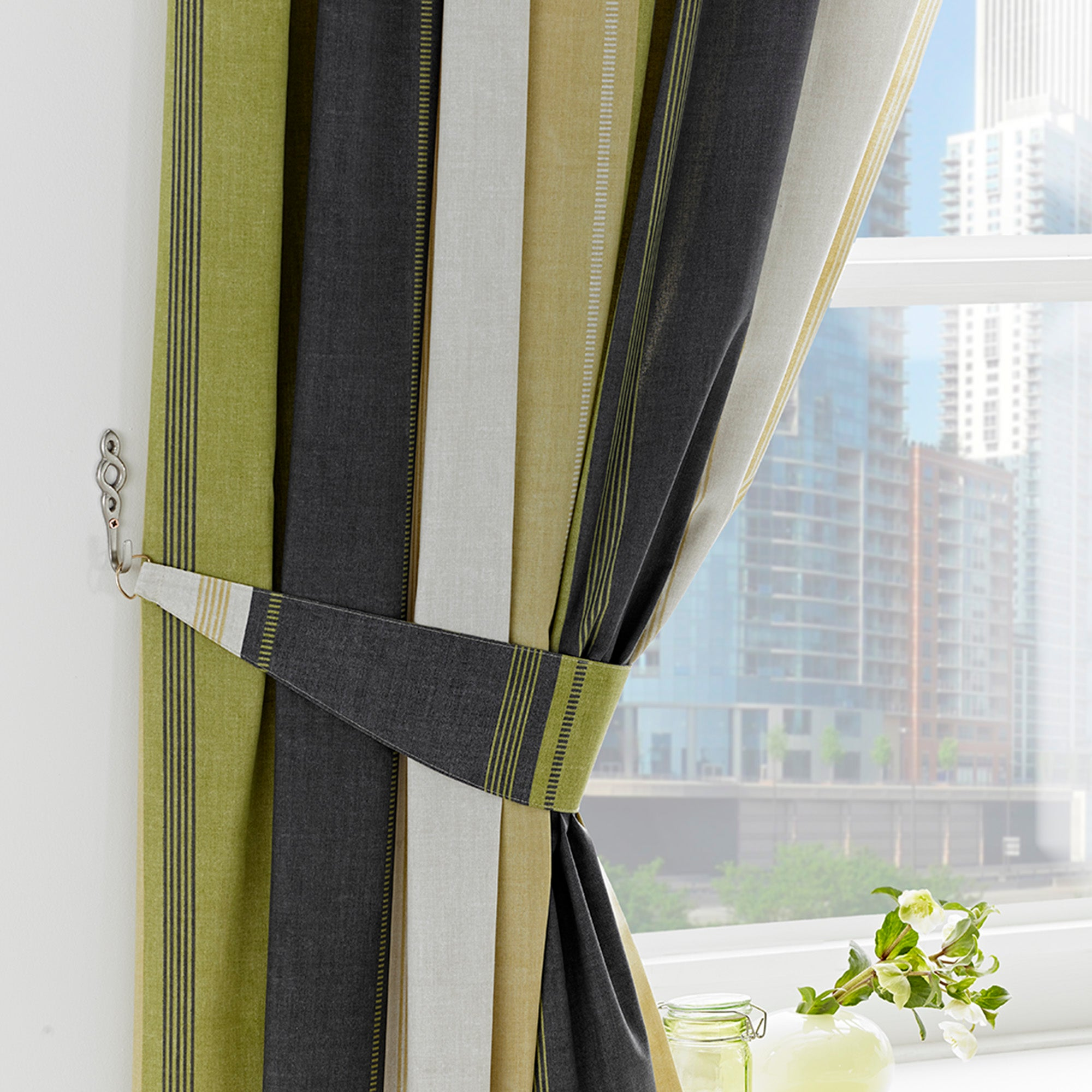 Green Finley Collection Curtains