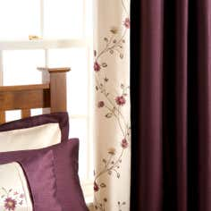 Blackcurrant Ruby Lined Pencil Pleat Curtains