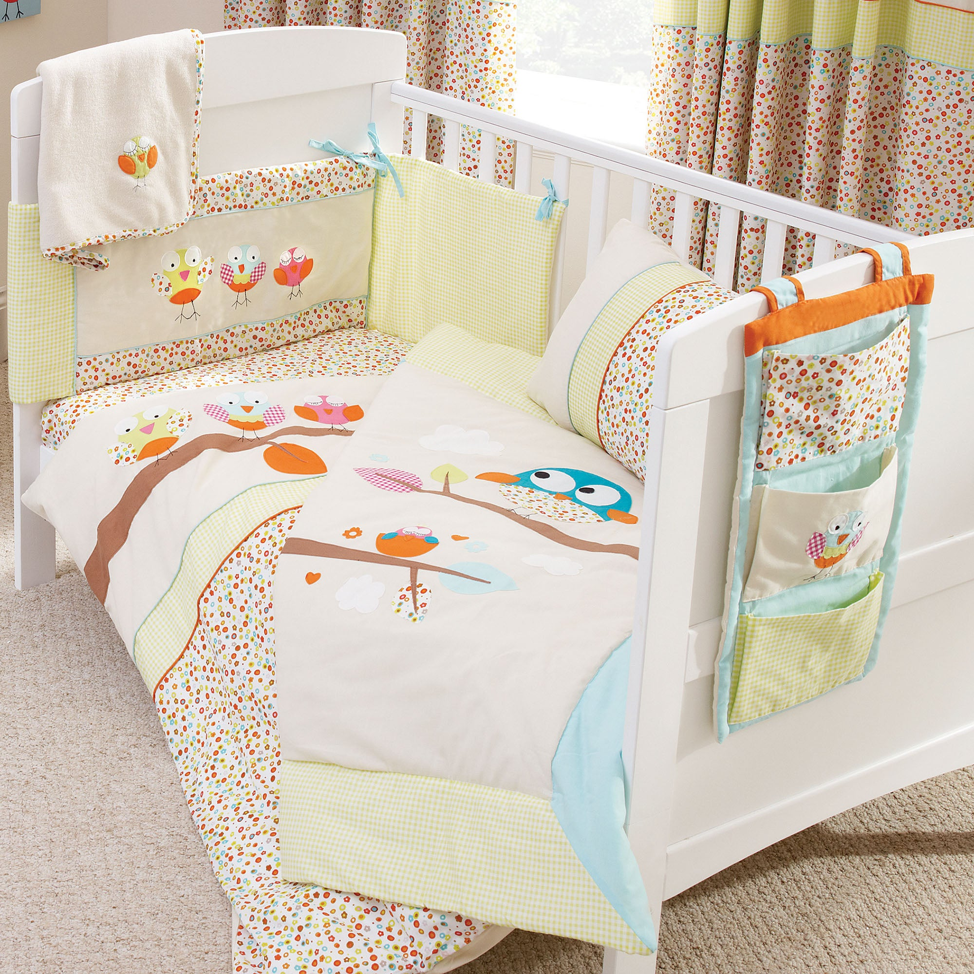 Kids Sleepy Owl Collection Cot Bed Duvet Cover