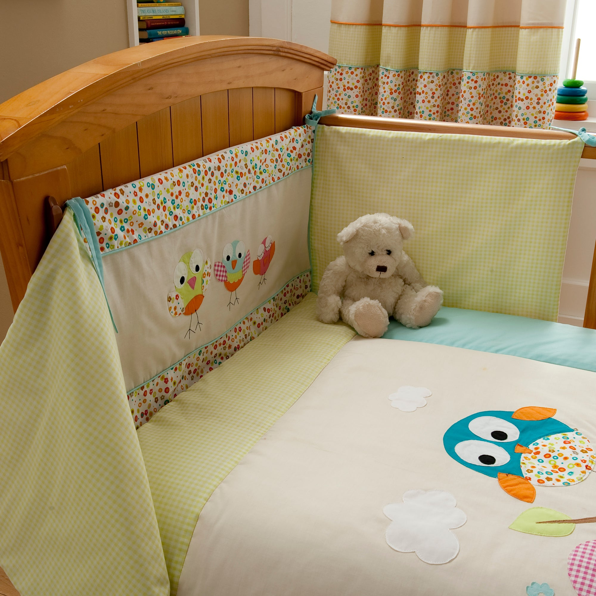 Sleepy Owl Collection Cot Bumper