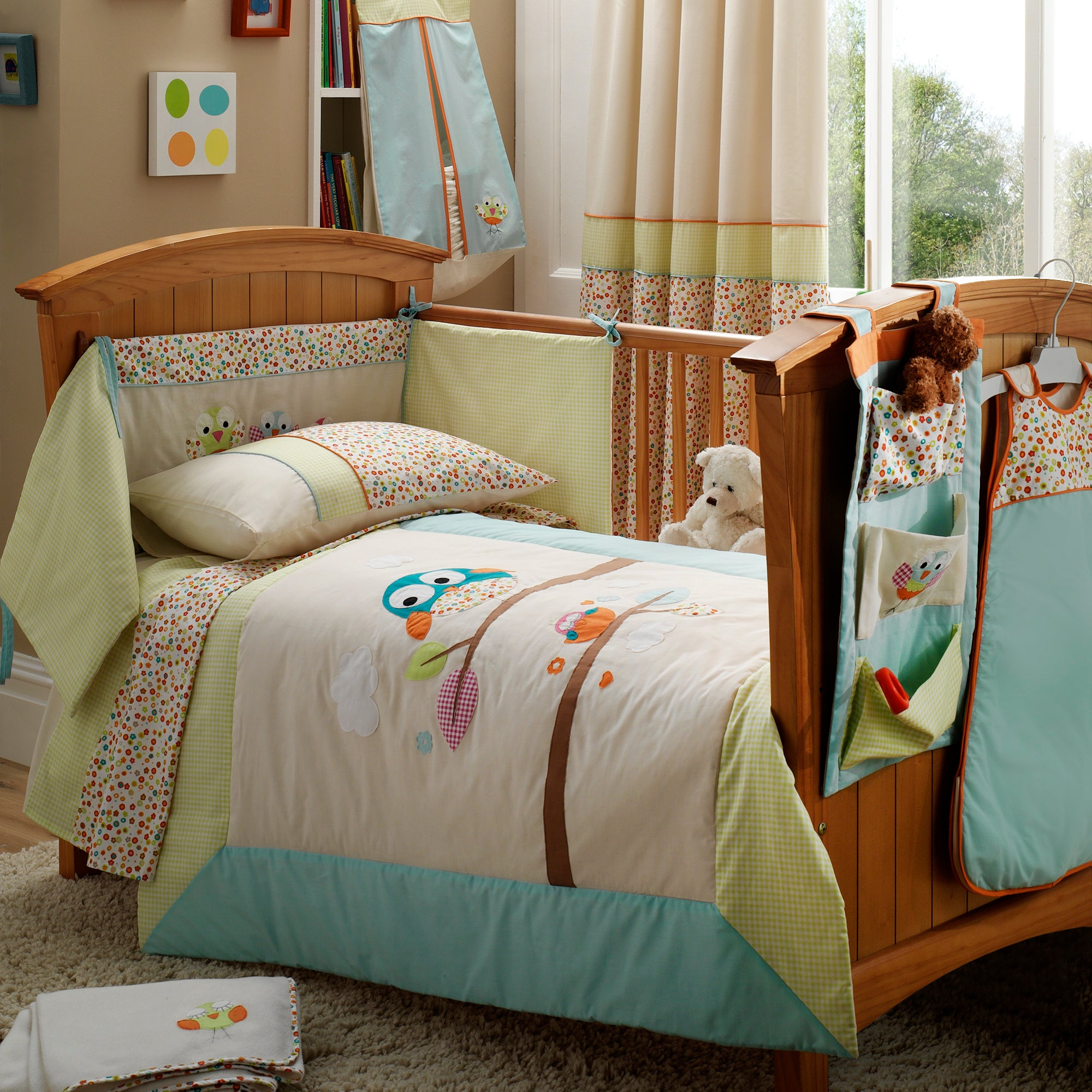 Kids Sleepy Owl Collection Cot Quilt