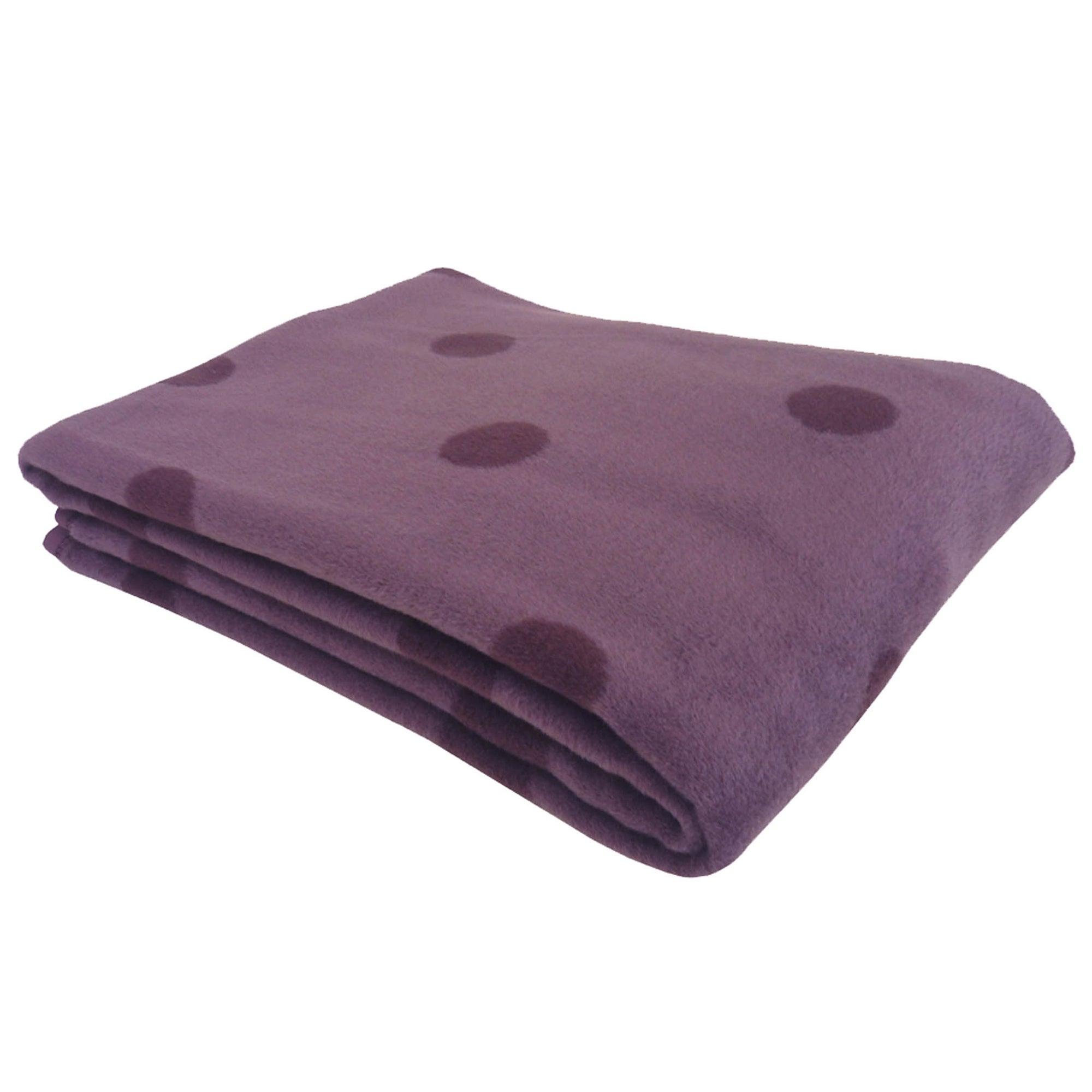 Thermosoft Aubergine Spots Blanket