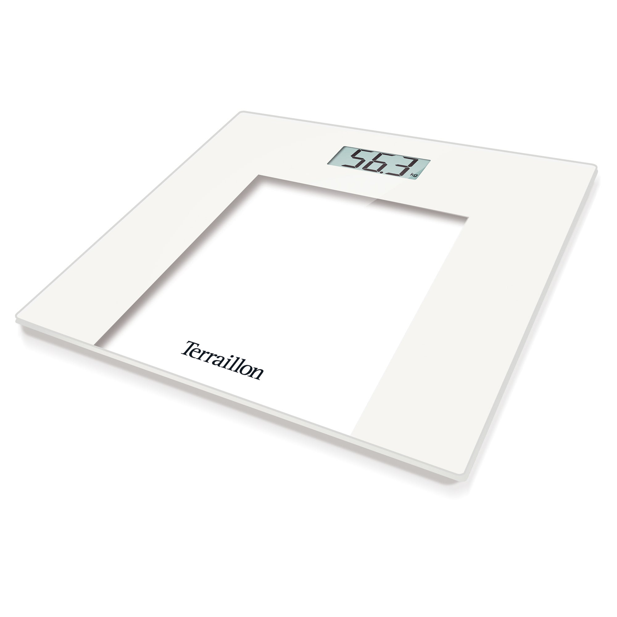 HX6000 150kg White Slim Glass Electronic Scales