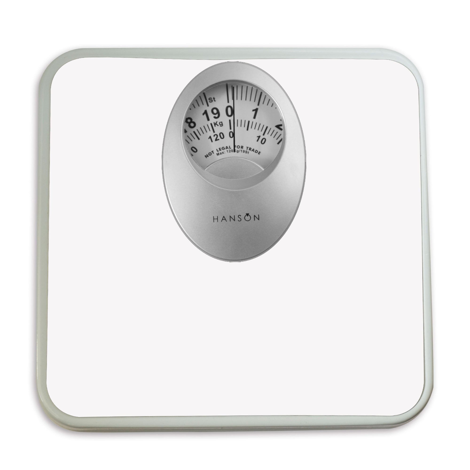 Hanson H61 120kg Mechanical Bathroom Scales with Magnified Display