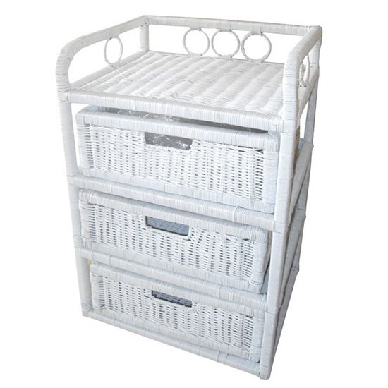Hawthorne Painted White 3 Drawer Unit