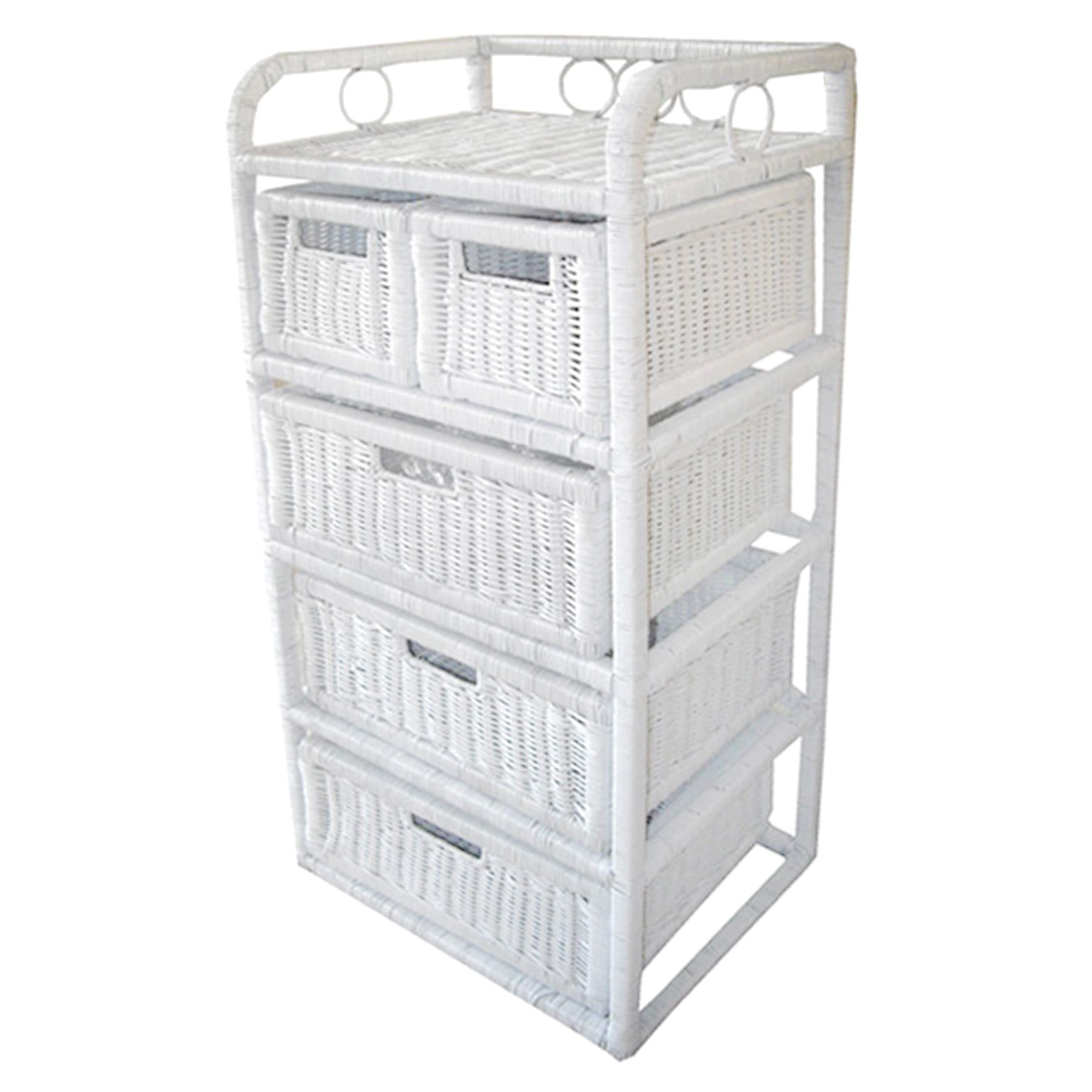 Hawthorne Painted White 5 Drawer Unit