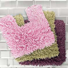 Tumble Twist 2 Piece Bath and Pedestal Mat Set