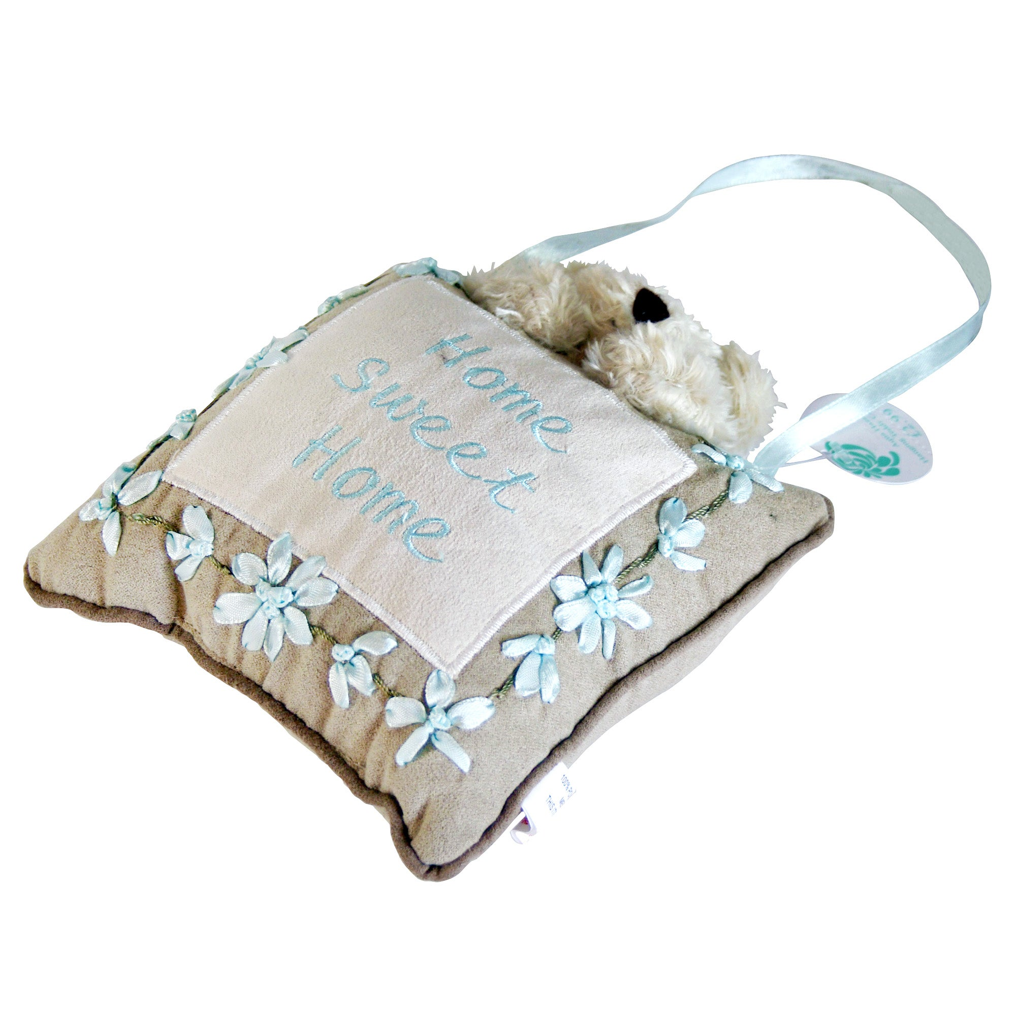 Aqua Haze Hanging Teddy Cushion