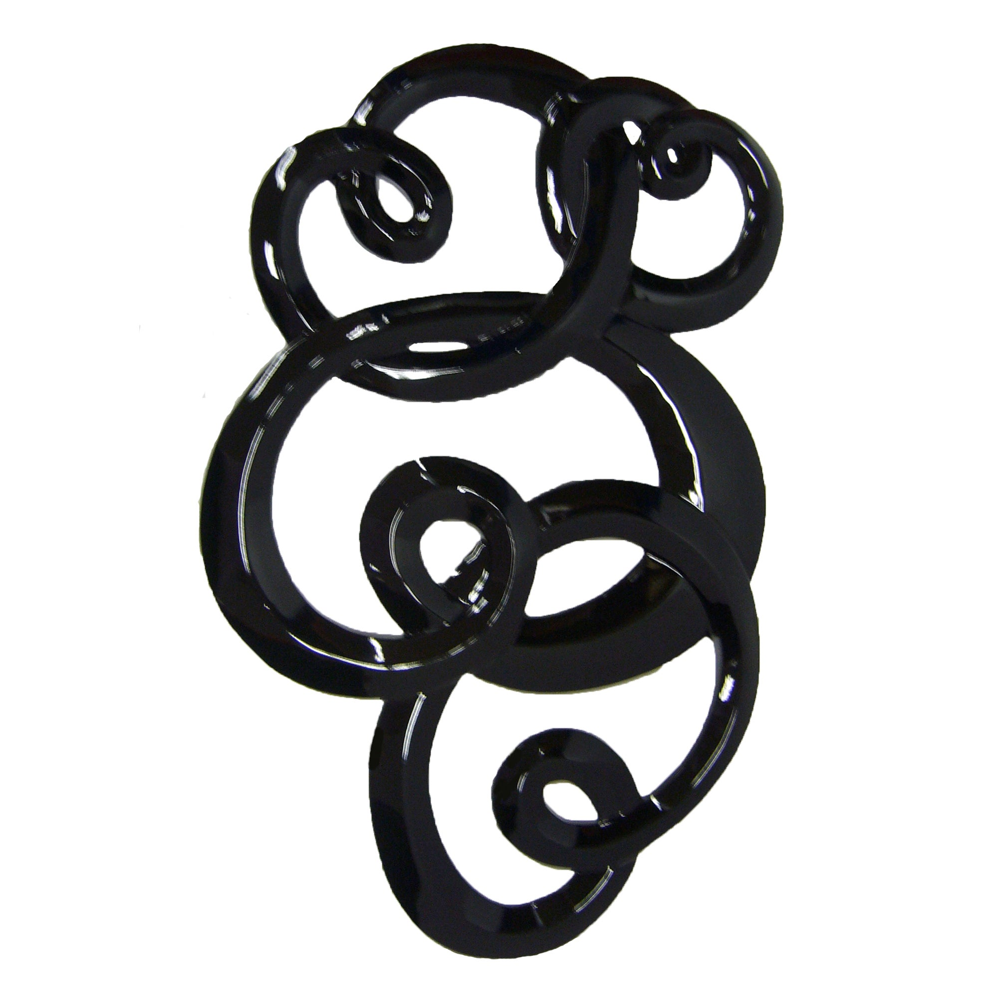 Swirling Curves Wall Sculpture