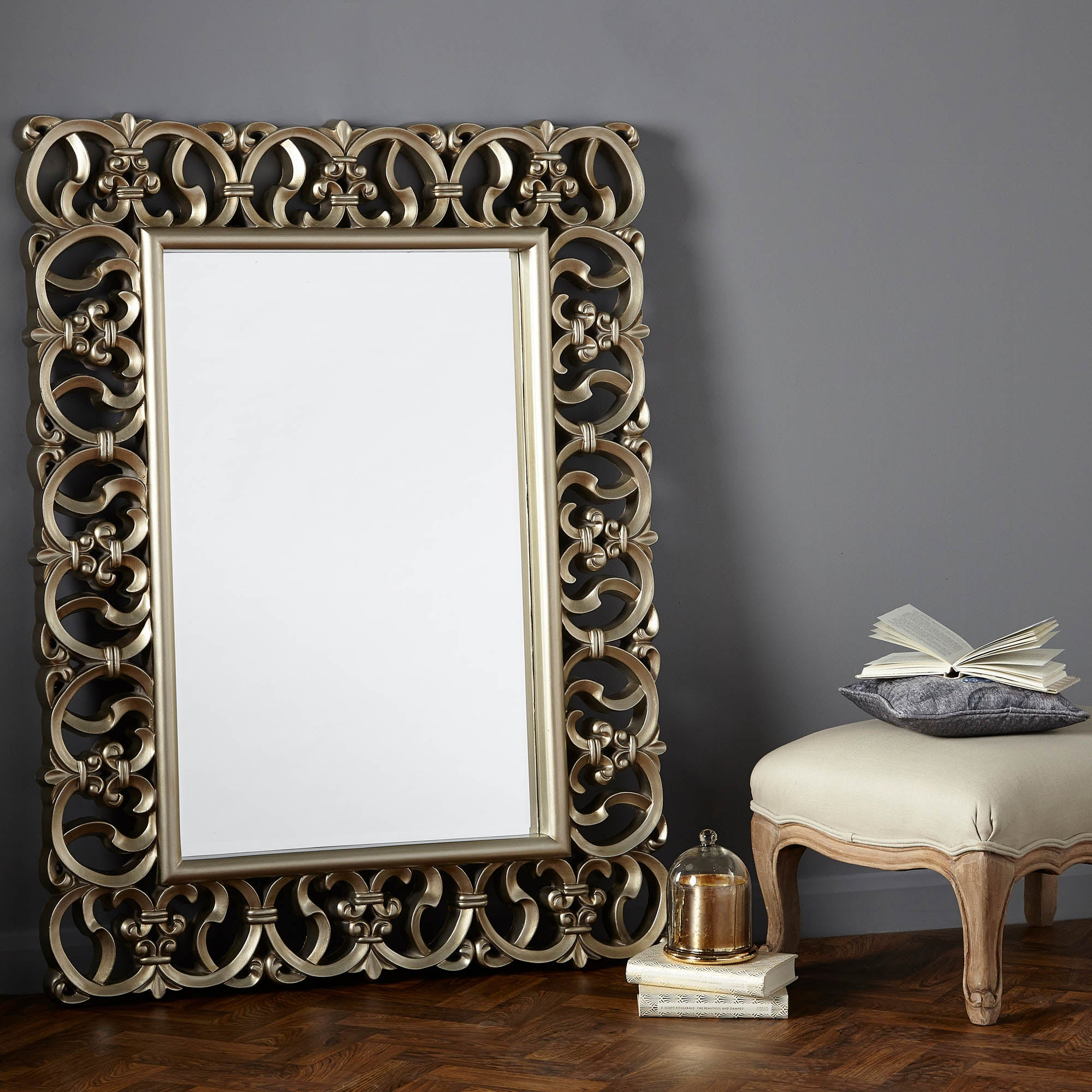 Ornate Highlife Framed Mirror