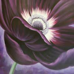 Purple Large Passion Flower Canvas
