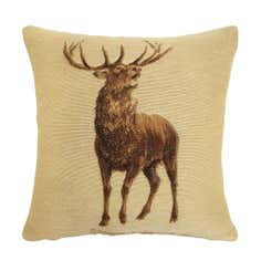 Natural Woven Stag Cushion