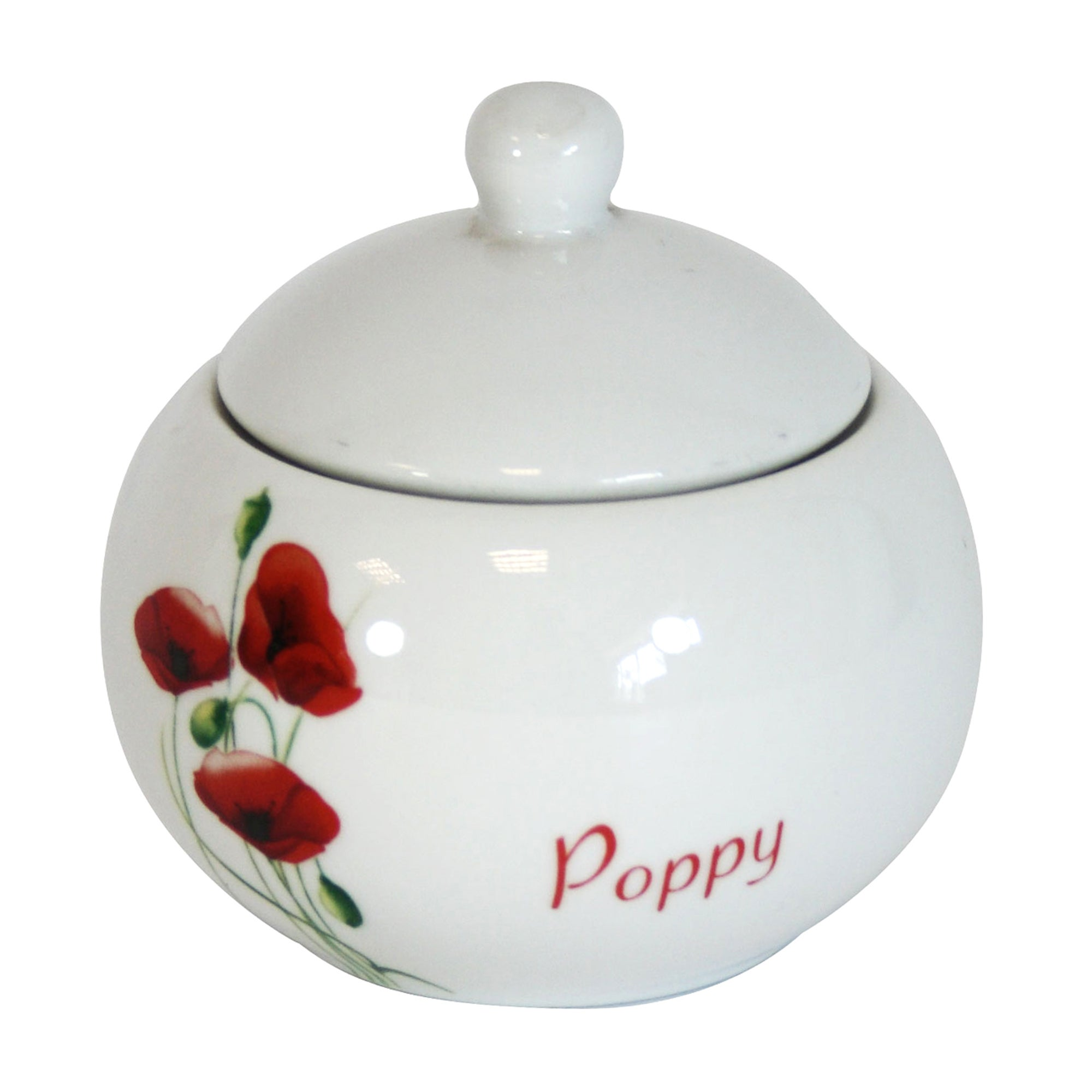 Poppy Collection Round Sugar Jar