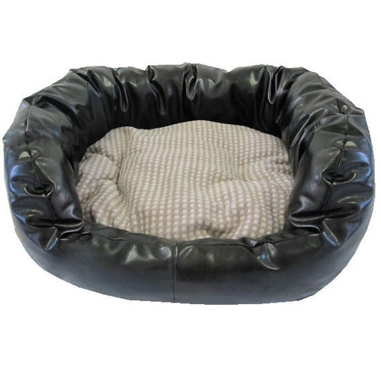 Charlie Faux Leather Pet Bed