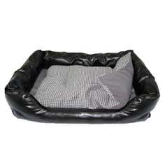 Duke Faux Leather Pet Bed
