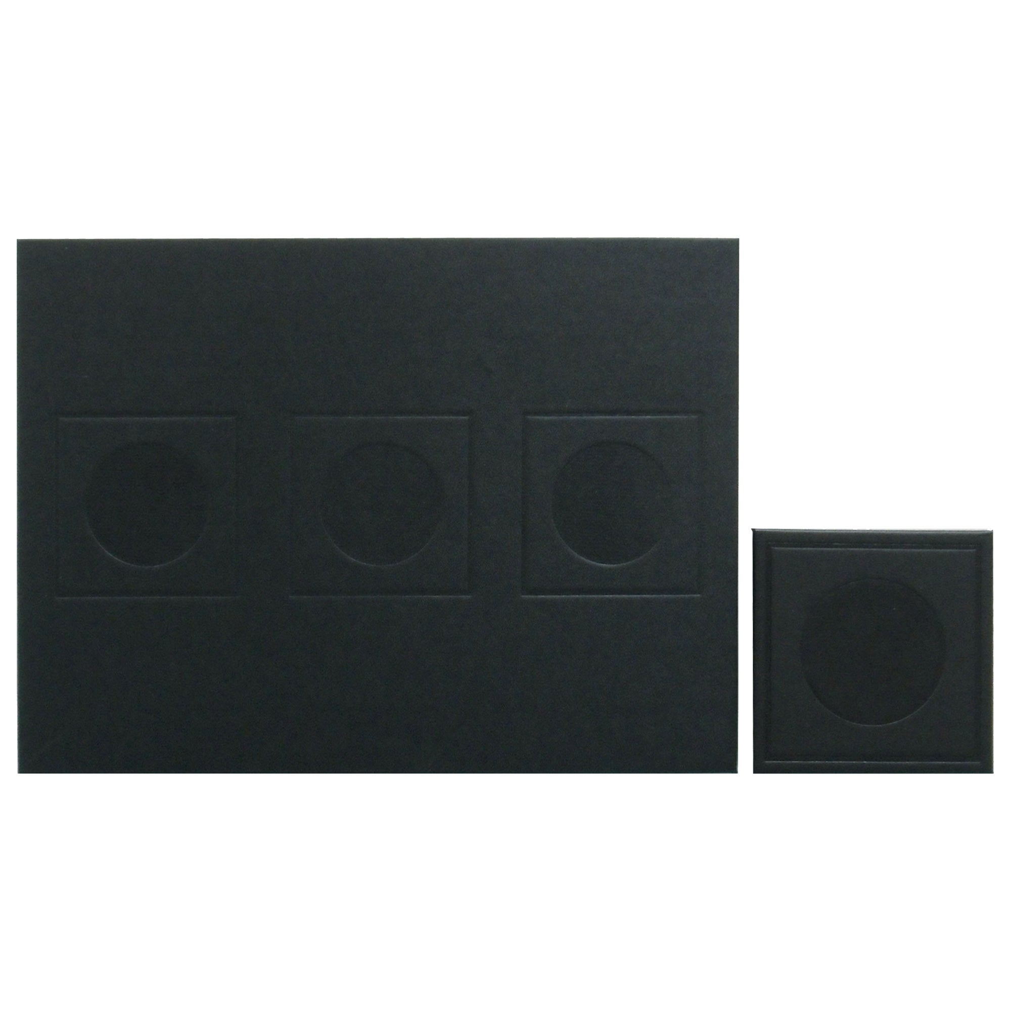 Geo Collection Black Set of 4 Placemats and Coaster Pack