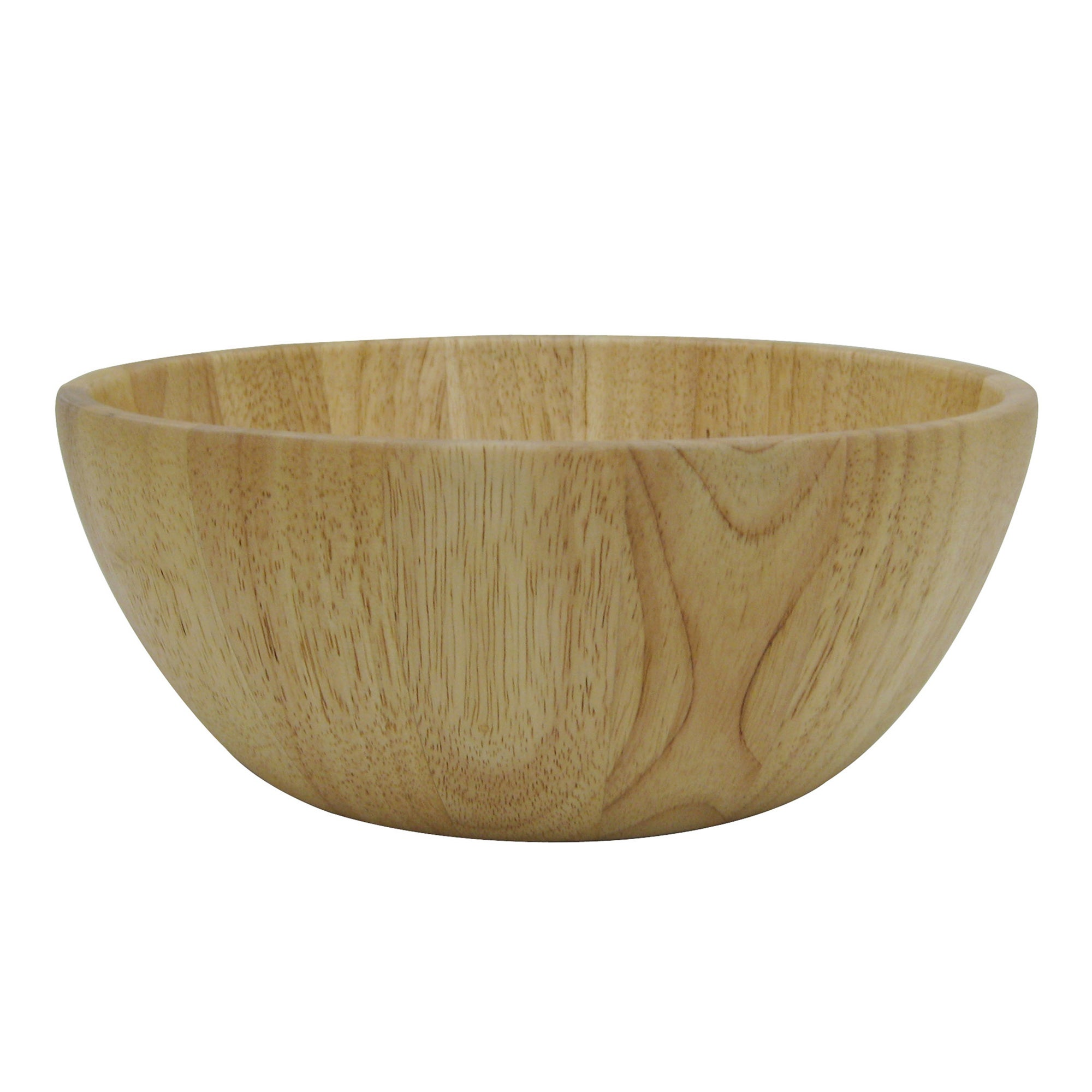 T & G Hevea Large Wood Salad Bowl