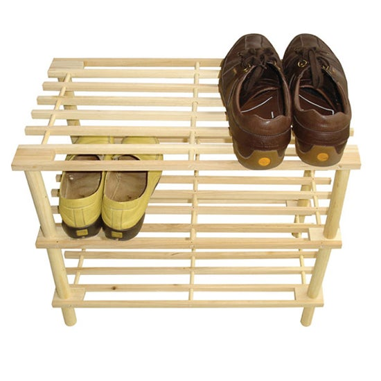 Brown 3 Tier Shoe Rack