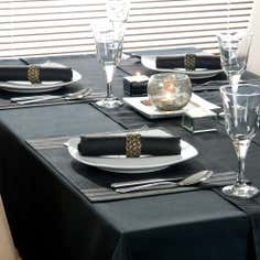 Black Spectrum Collection Tablecloth
