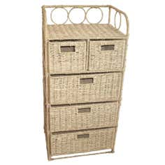 Hawthorne Natural 5 Drawer Unit