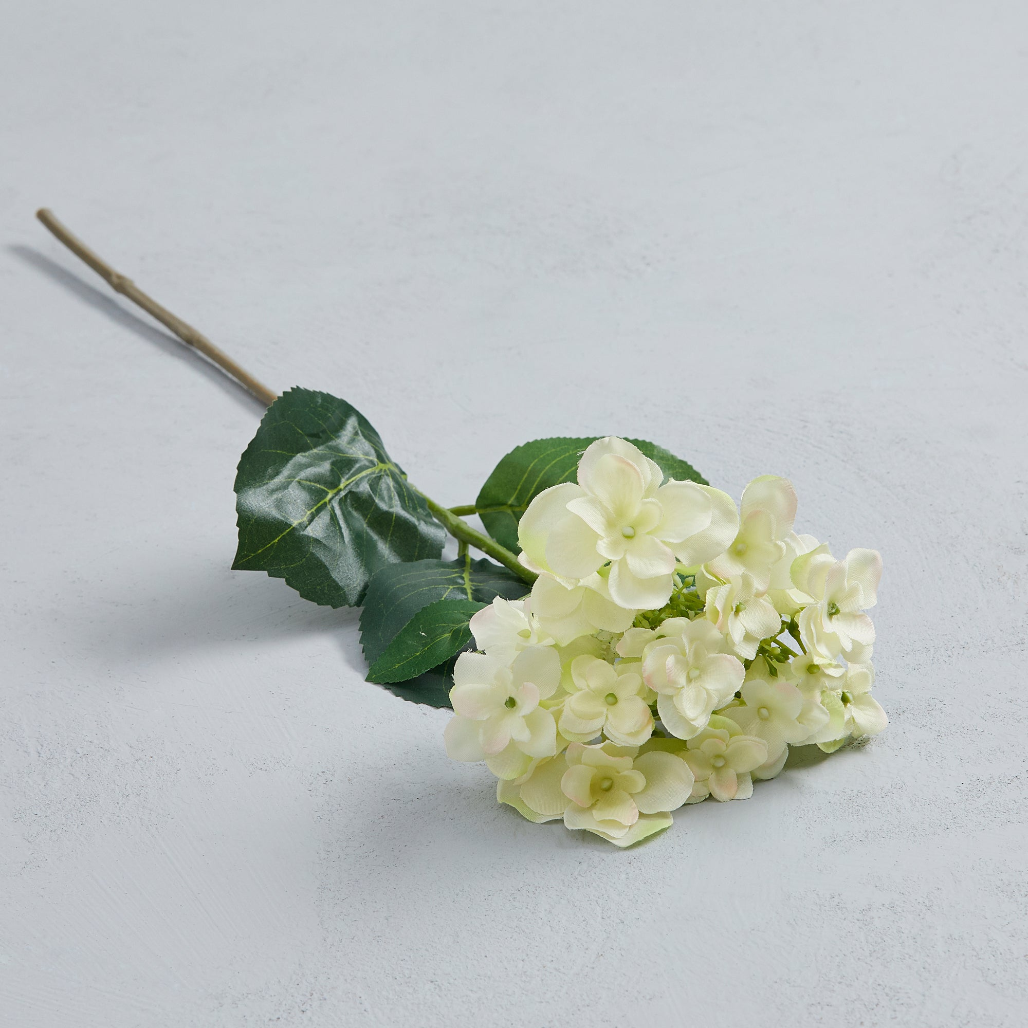 Artificial White Hydrangea Spray