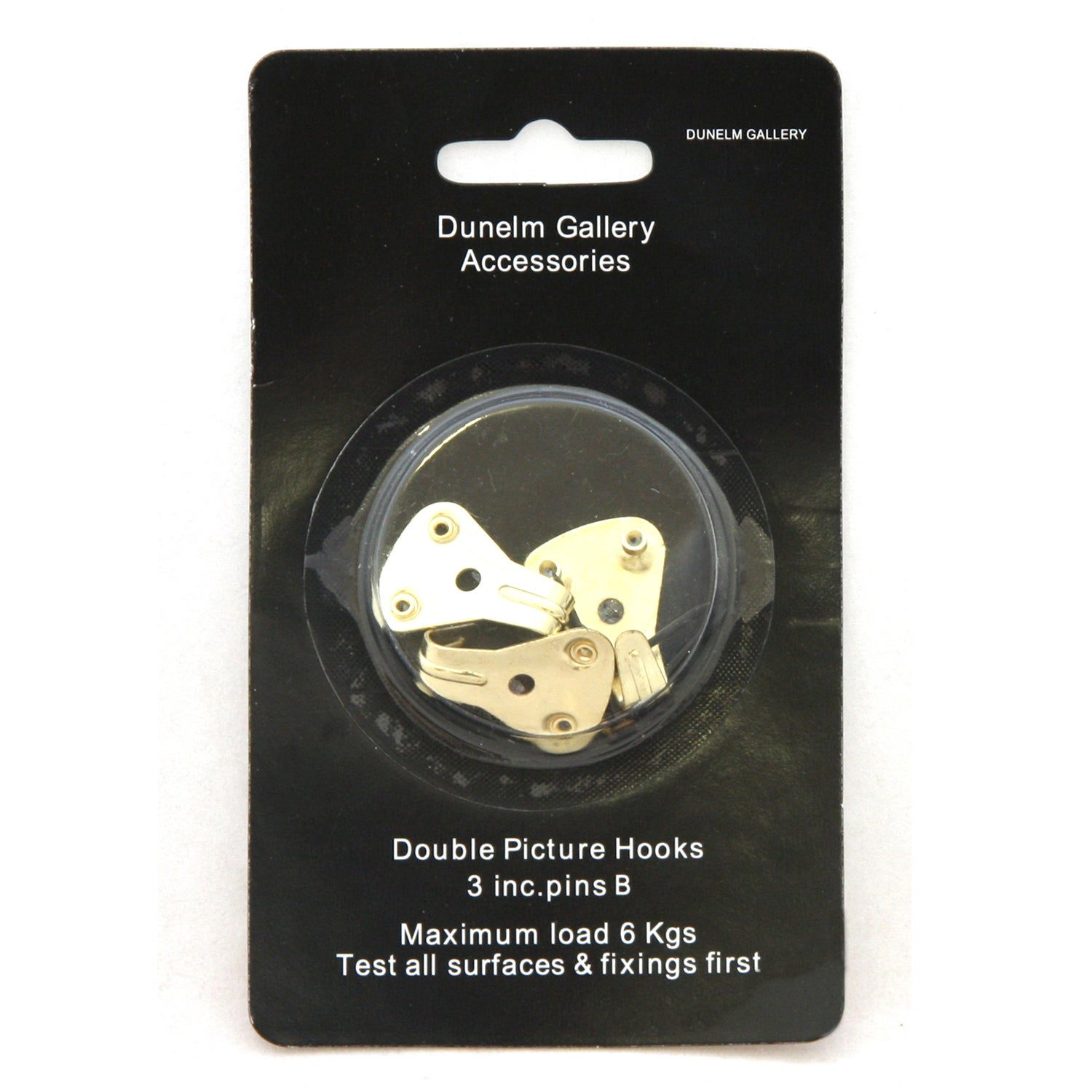 Pack of 3 Double Picture Hooks with Pins