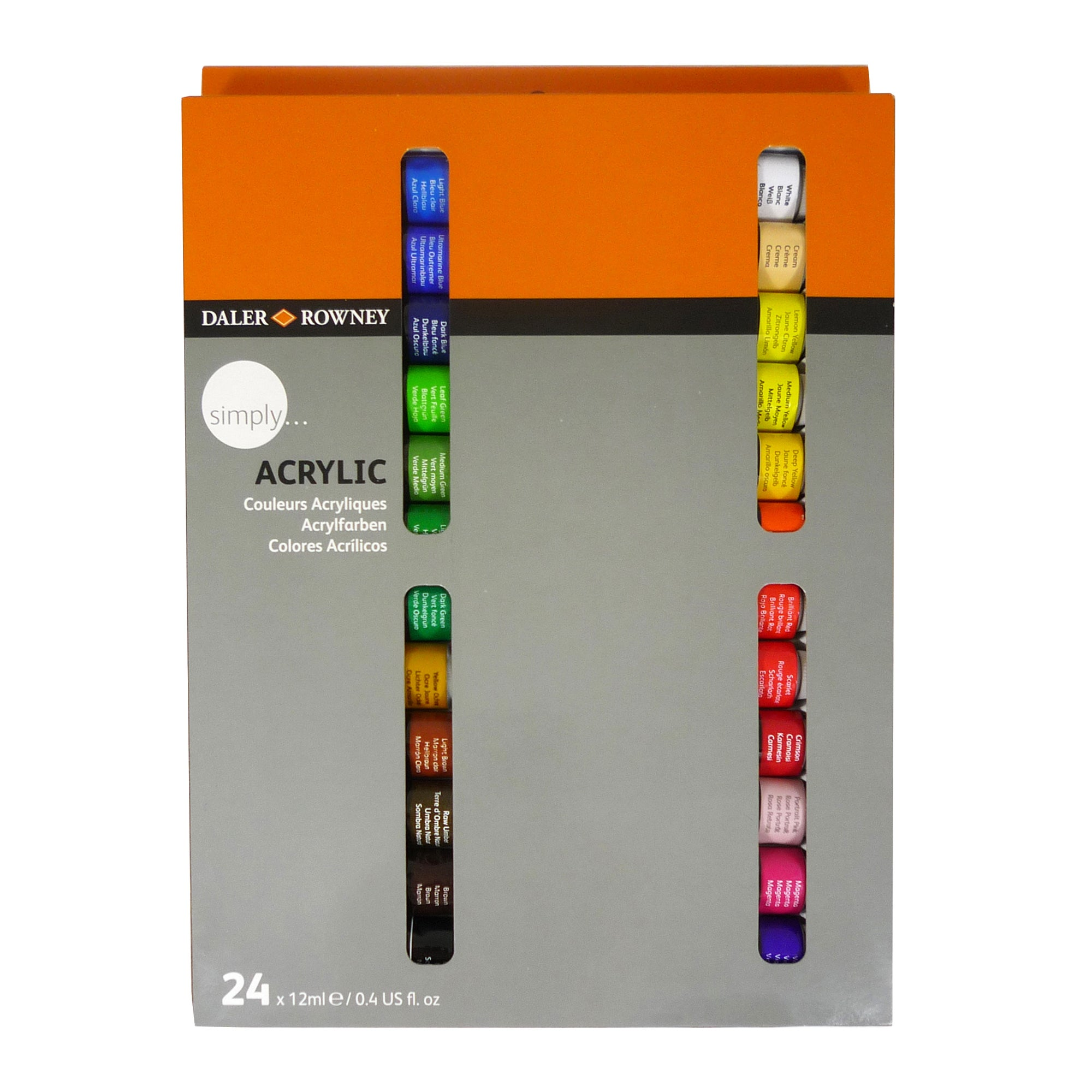 Daler Rowney Simply Set of 24 Acrylic Paints