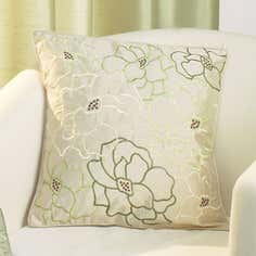 Cream Scattered Flower Cushion