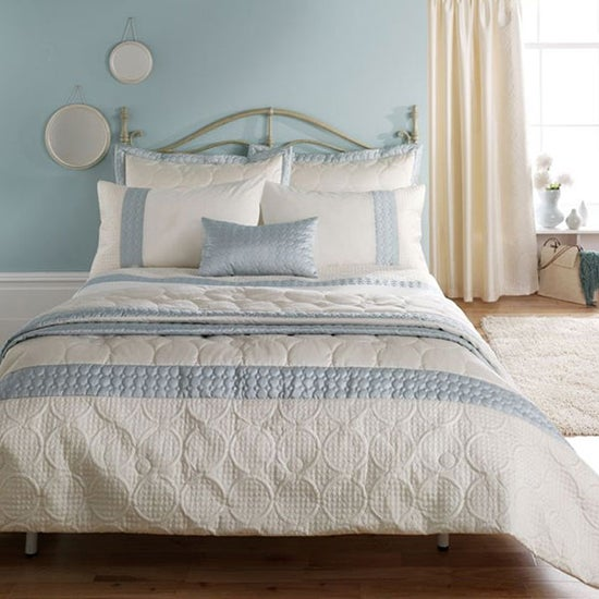 blue quilted bedspread shop for cheap home textiles and. Black Bedroom Furniture Sets. Home Design Ideas