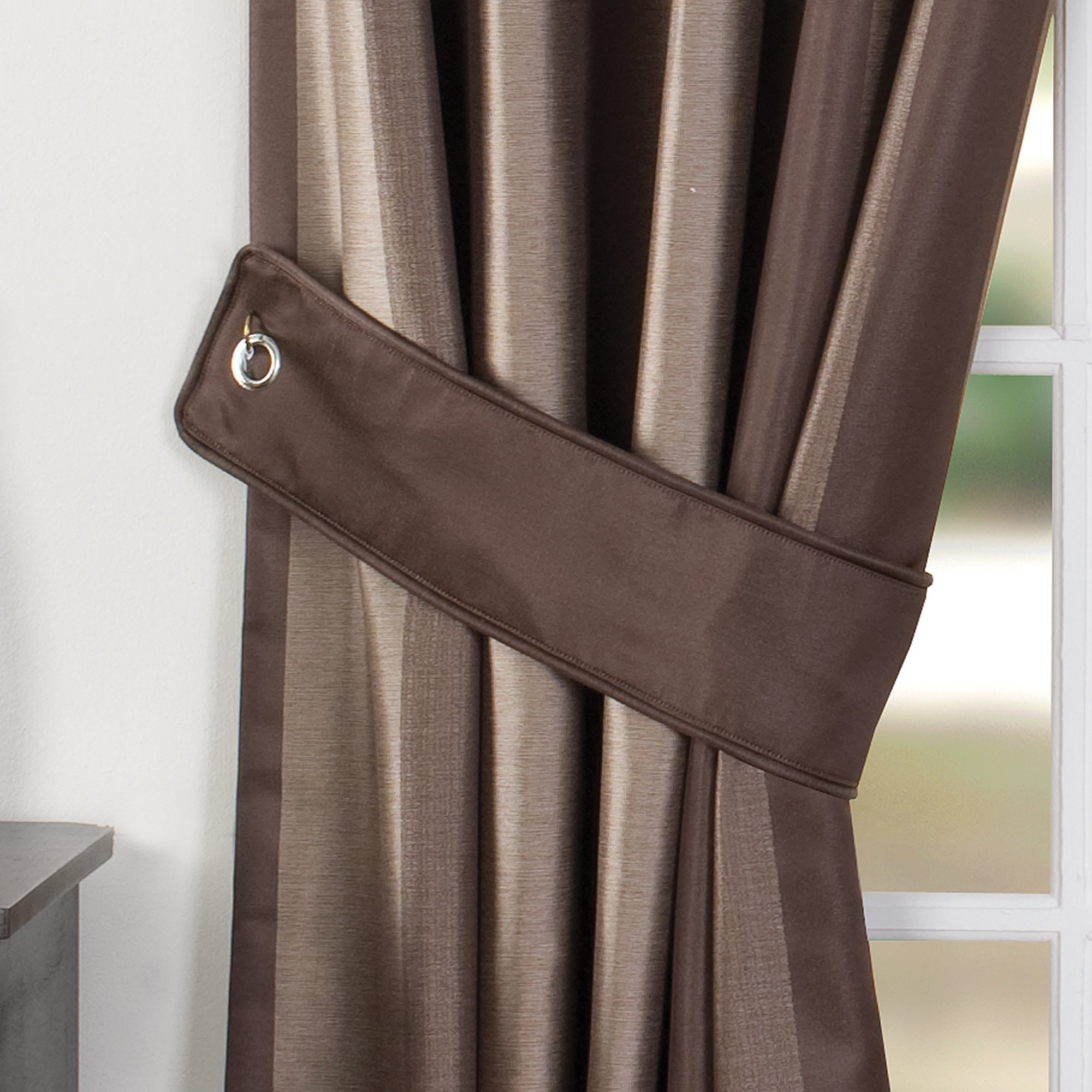 Chocolate Monaco Collection Curtain Tiebacks