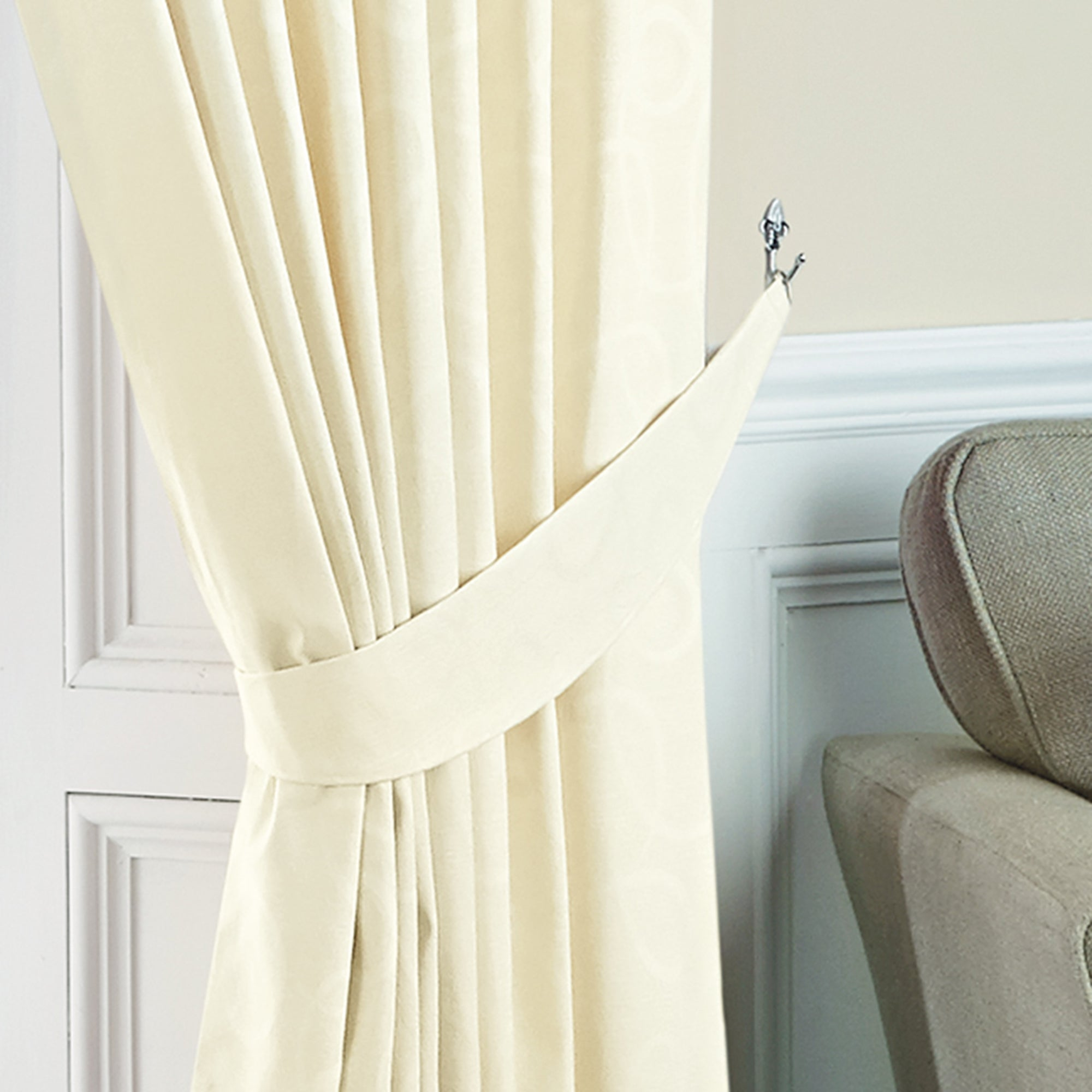 Cream Toledo Collection Curtain Tiebacks