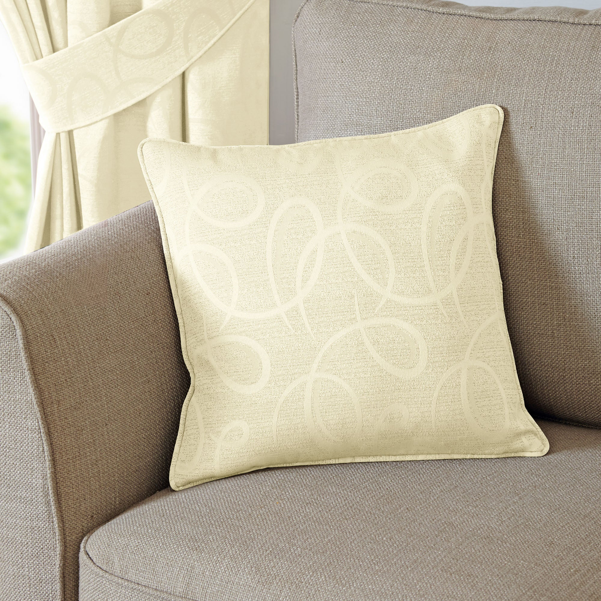 Cream Toledo Collection Cushion