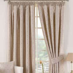 Taupe Vienna Lined Pencil Pleat Curtains