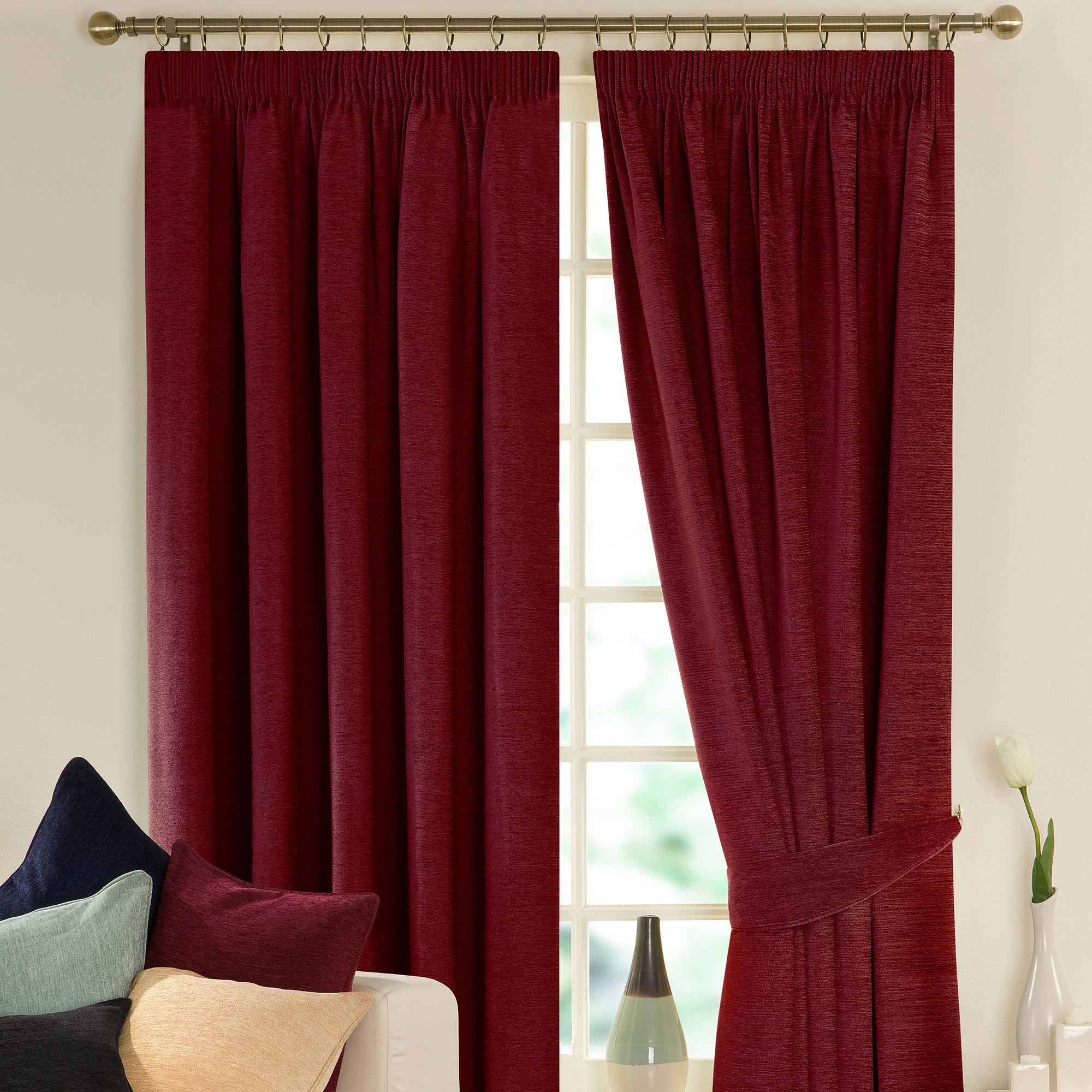 Wine Lyon Curtain Collection