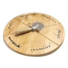 Natural Origins Collection Pizza Board with Cutter