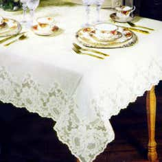 Regency Lace Round Tablecloth