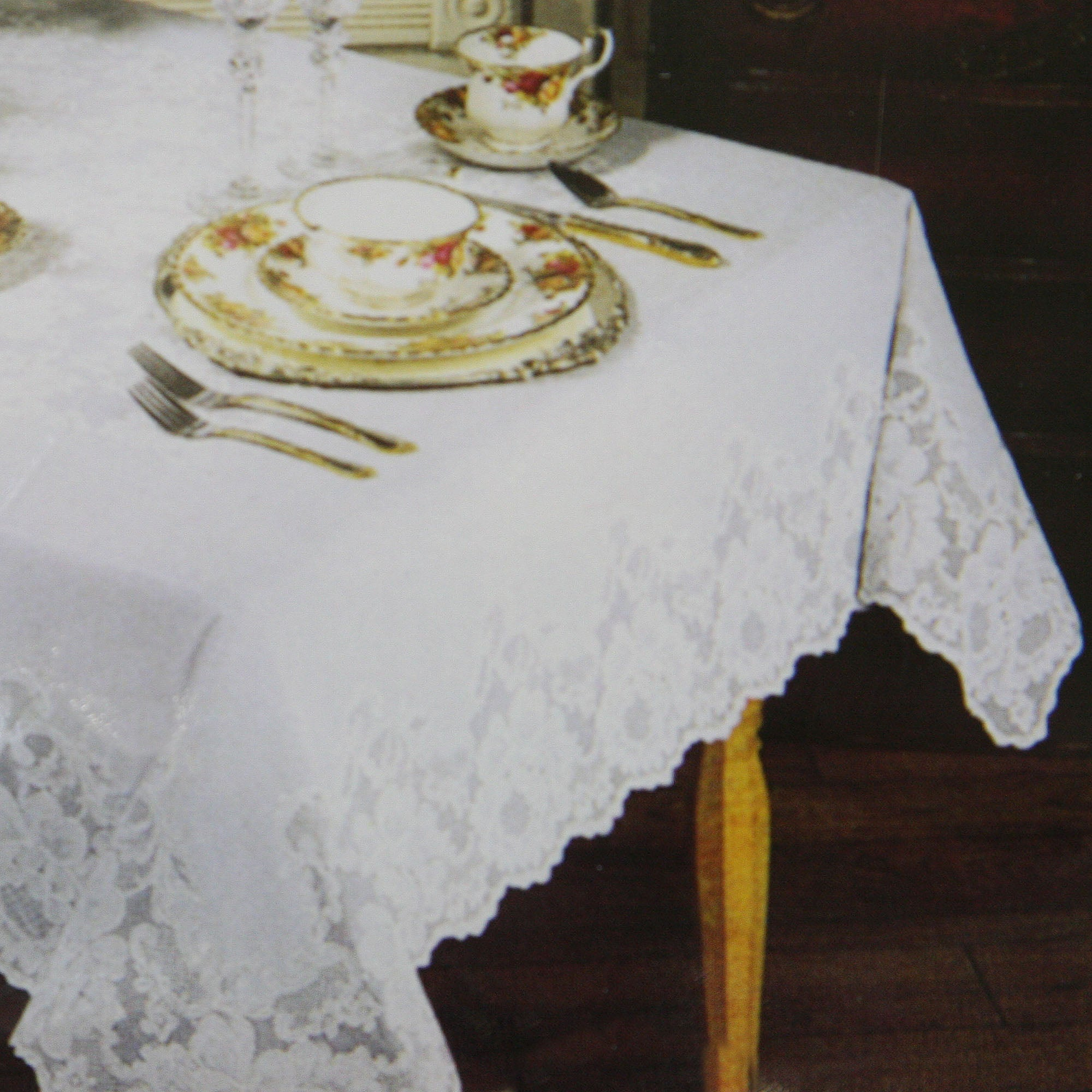 Regency Lace Rectangle Tablecloth