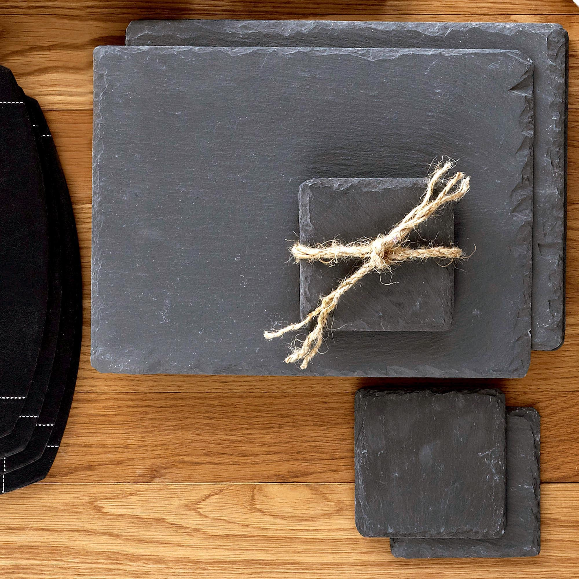 Set of Four Slate Placemats