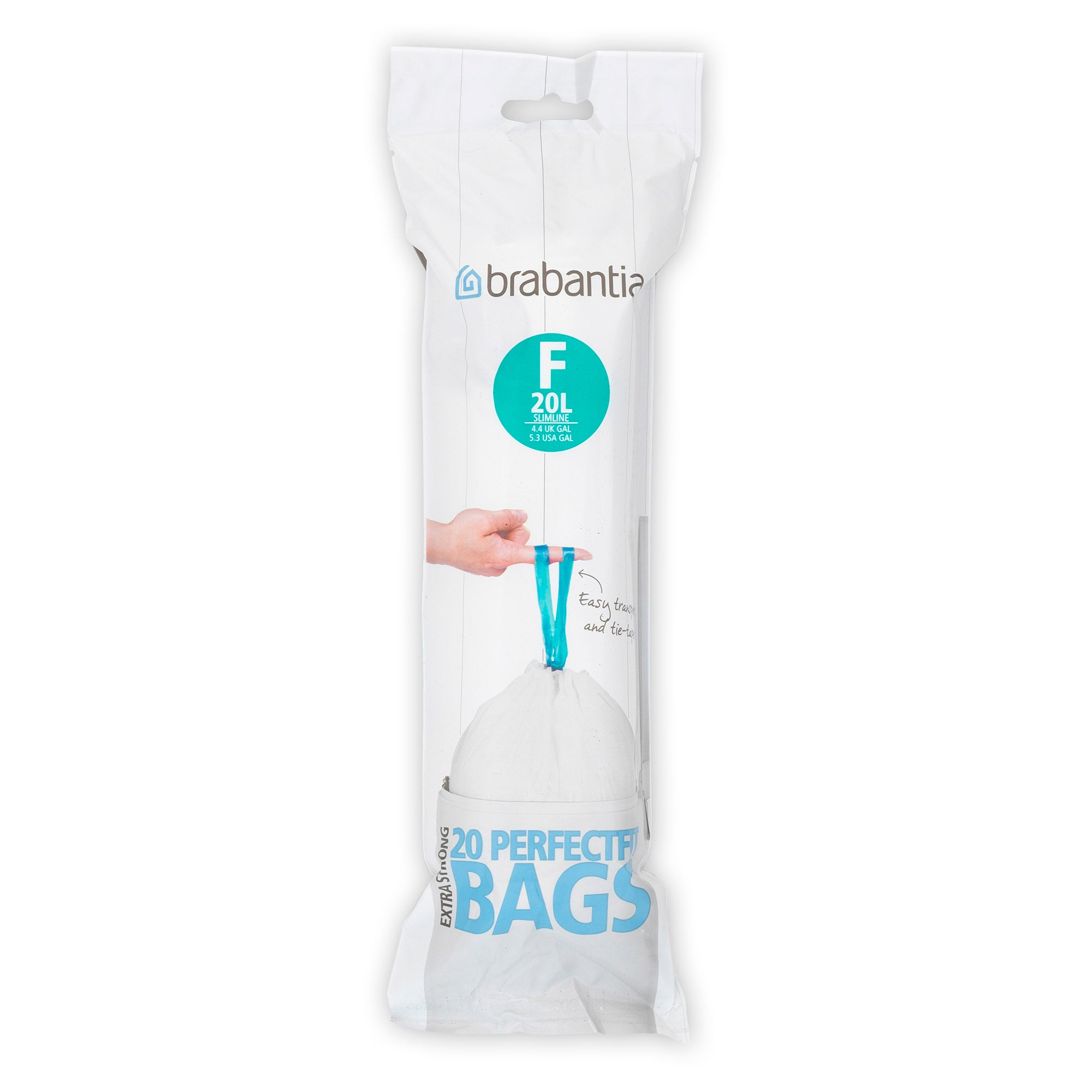 Brabantia 20 Litre Smart Fix Slim Waste Bags