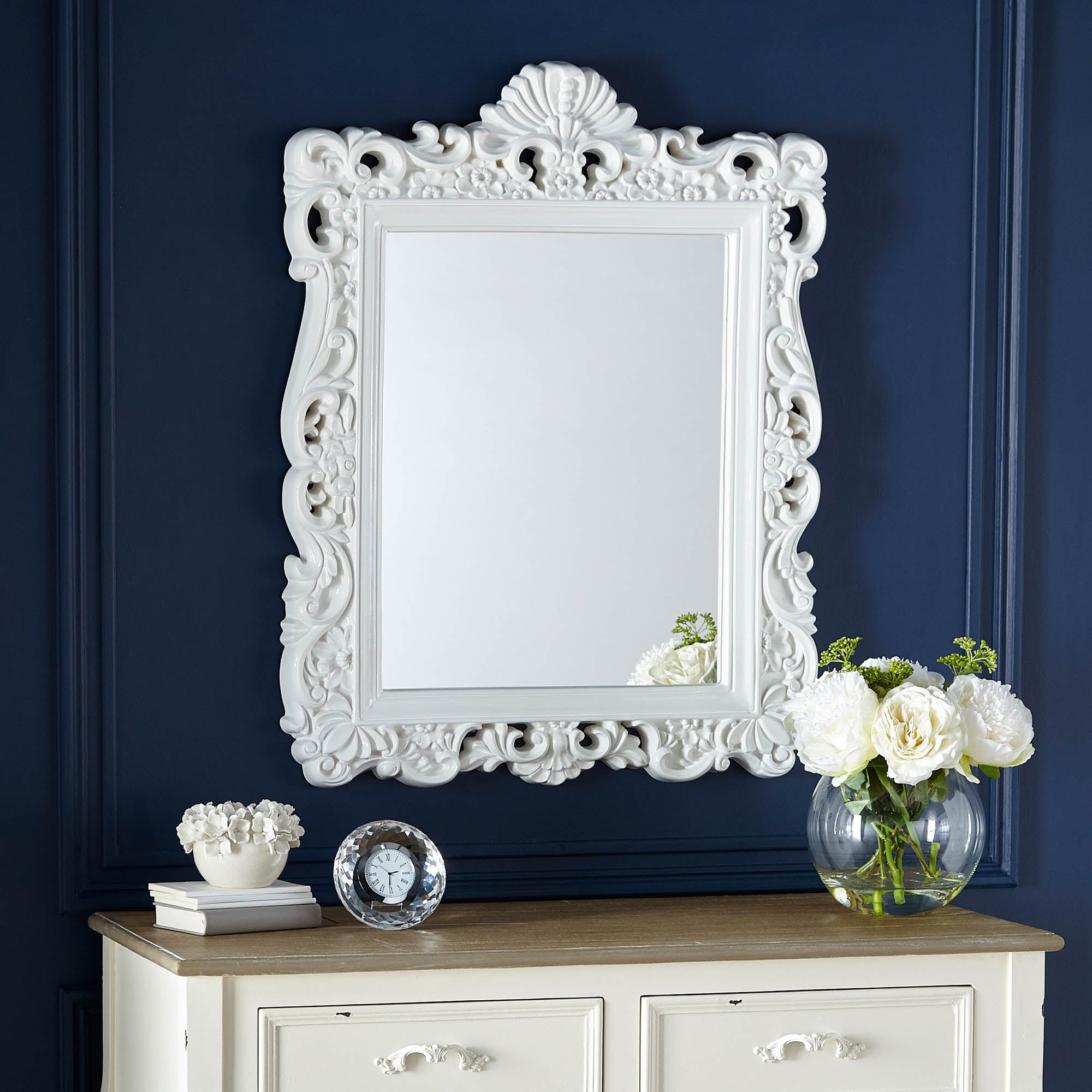 White Ormolu Highlife Mirror