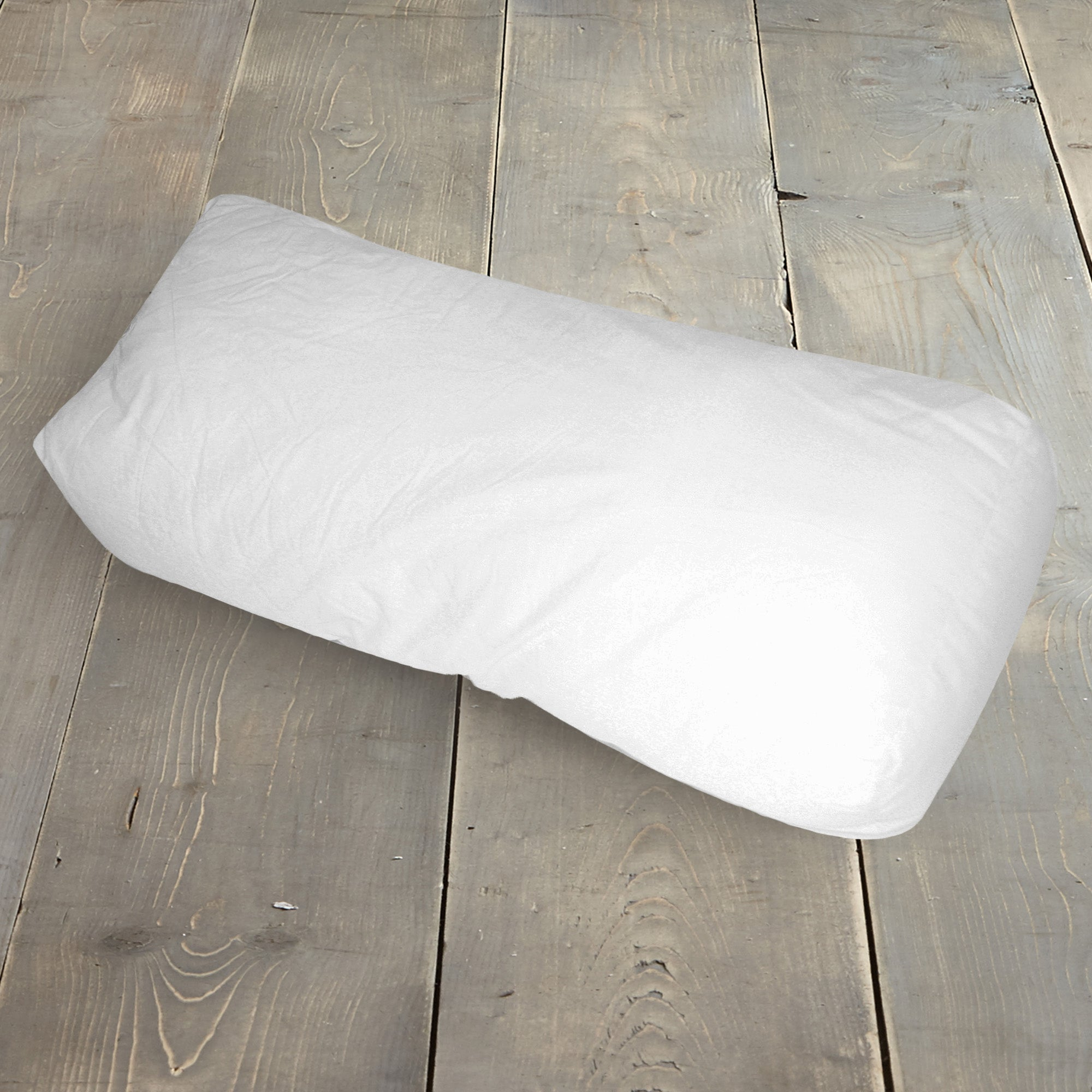 White Square Bolster Cushion Pad