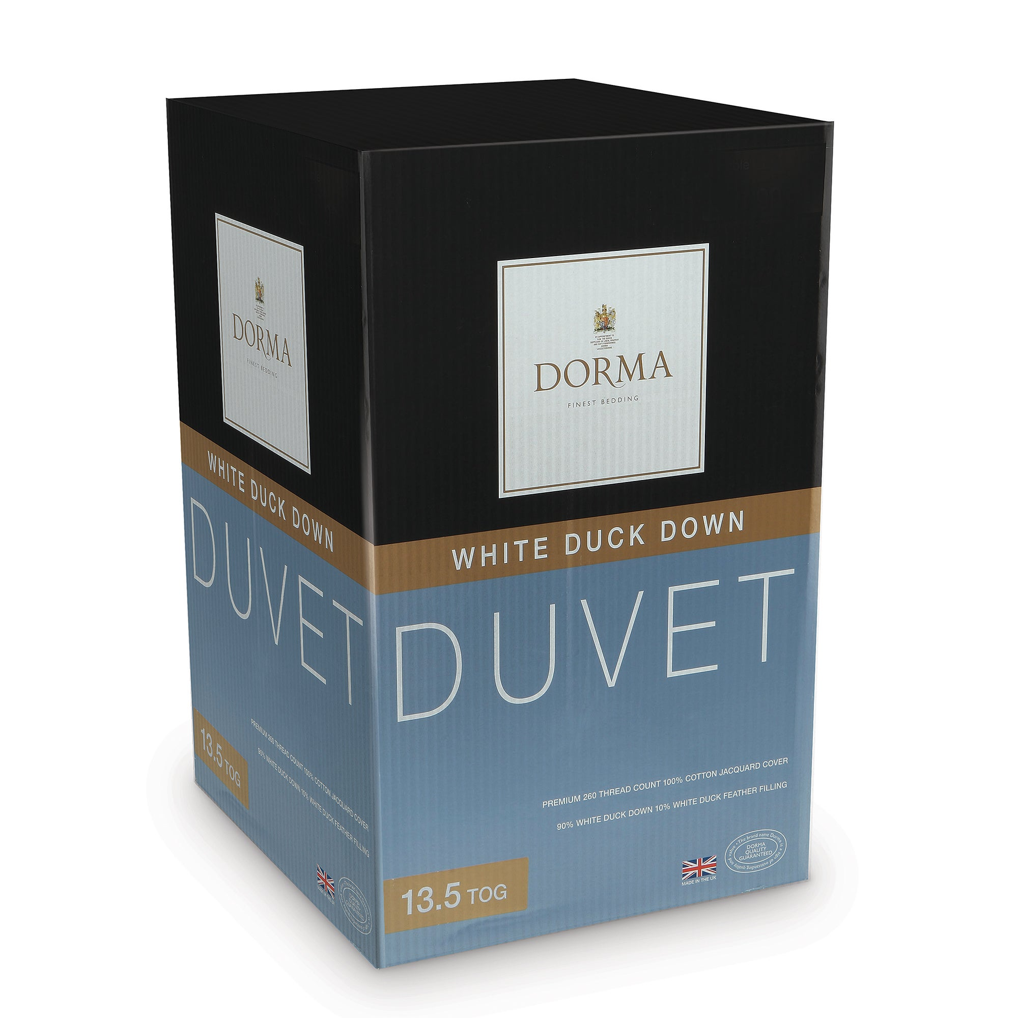 Dorma White Duck Down 13.5 Tog Duvet