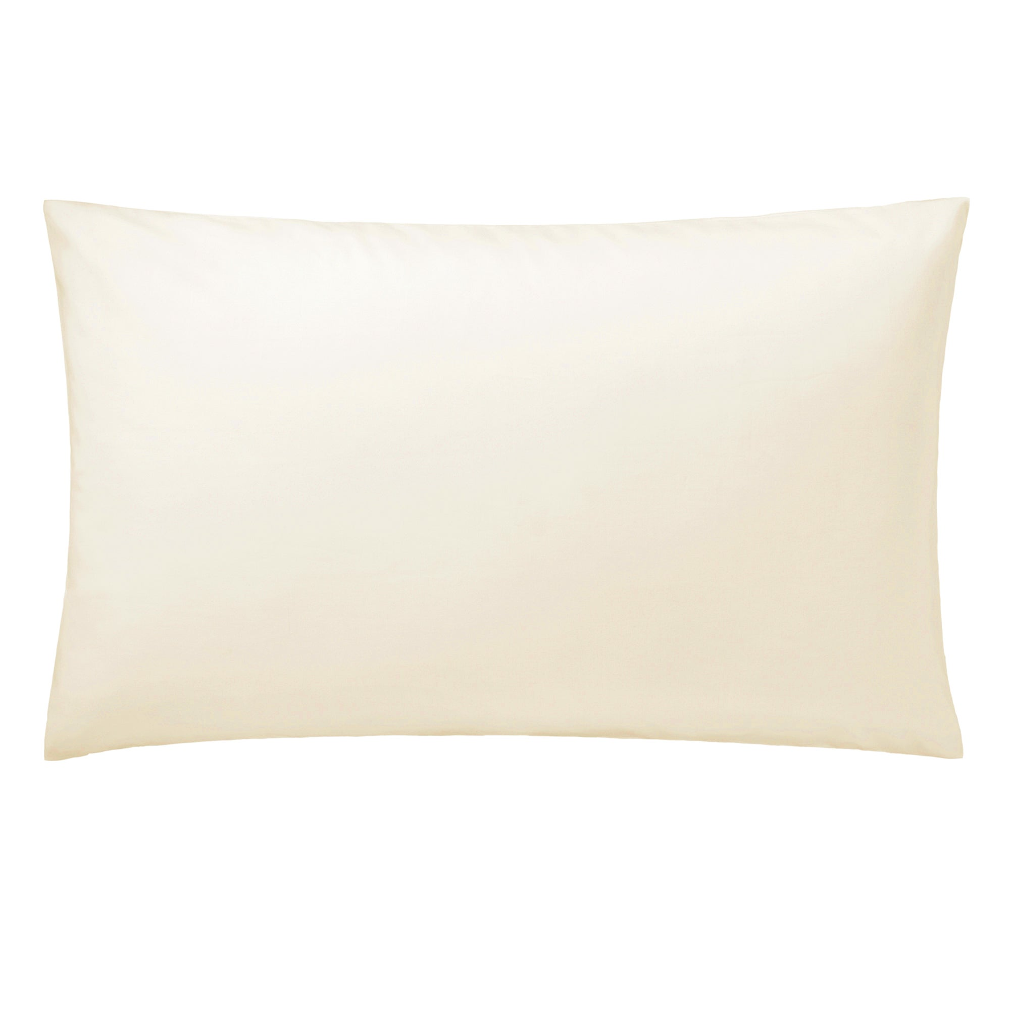 Cream Hotel Plain 300 Thread Count Collection Kingsize Pillowcase