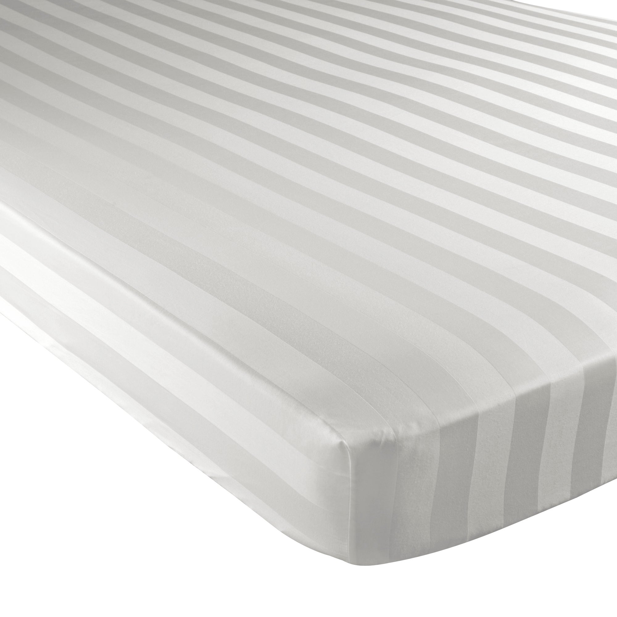 White Hotel Stripe 300 Thread Count Collection Fitted Sheet