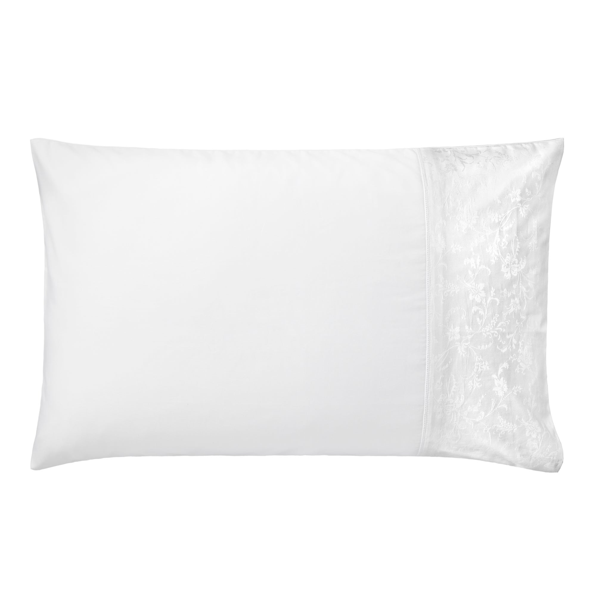 White Hotel Pima Floral 400 Thread Count Collection Cuffed Pillowcase