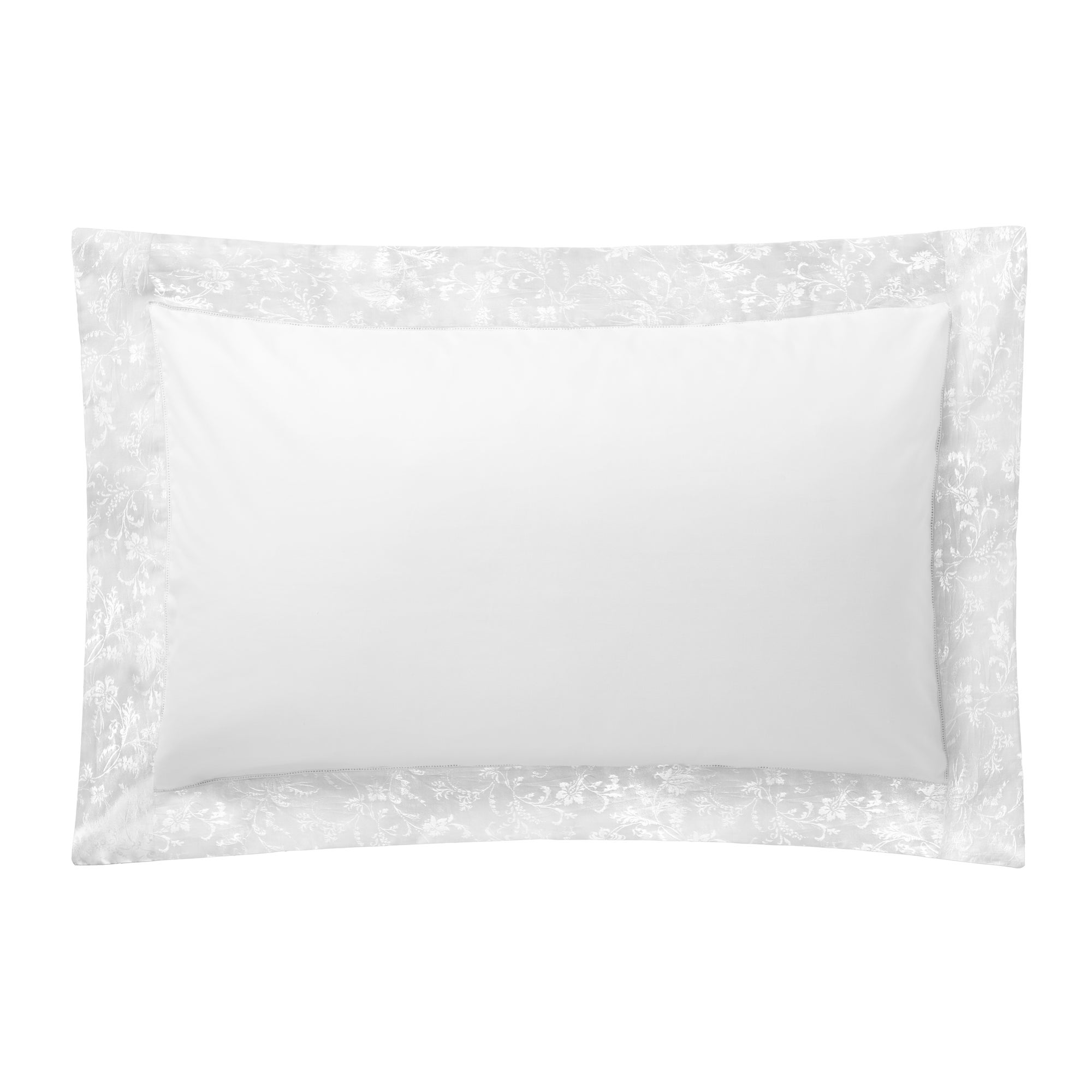 White Hotel Pima Floral 400 Thread Count Collection Oxford Pillowcase